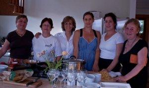 (left to right) Paula Angerstein, Jane King, Pamela Nevarez, Kristine Kittrell, Gina Burchenal, and Tracy Claros